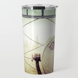 New York City Skyline Tourist Binoculars Travel Mug