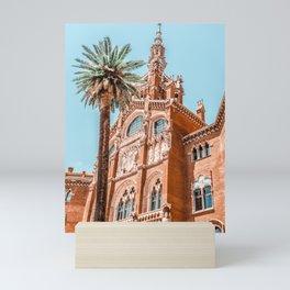 Hospital Santa Creu Sant Pau in Barcelona, Barcelona City Urban Art Print, Modernism Architecture Mini Art Print