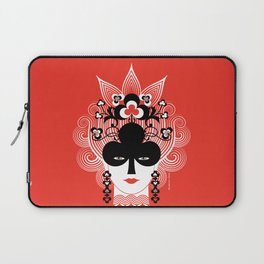 The Queen of clubs Laptop Sleeve