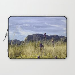 Bluebonnets and Desert Mountain Laptop Sleeve