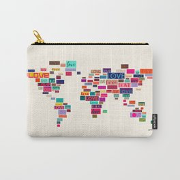 All We Need Is Love World Map Art Carry-All Pouch