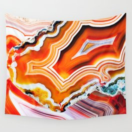 The Vivid Imagination of Nature, Layers of Agate Wall Tapestry