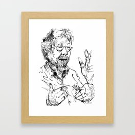 David Suzuki (scientist) Framed Art Print