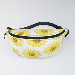 Sunflowers On White Fanny Pack