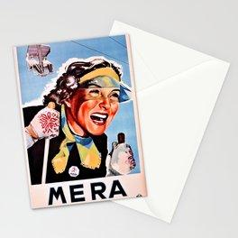 Vintage Ski Mera Valsesia travel Italy Stationery Cards