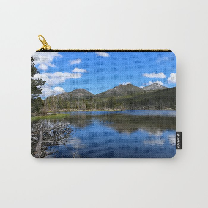 Sprague Lake And Cloud Reflection Carry-All Pouch