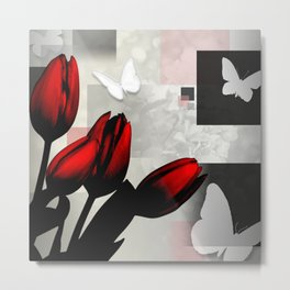 Assorted Squares, Flowers & Butterflies Metal Print