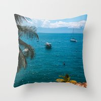 boats Throw Pillows featuring Boats by Mauricio Santana