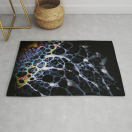 Metallic Rainbow Bubble Patterned Jellyfish Rug