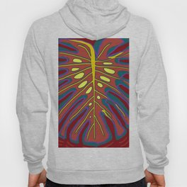 Monstera Flying to Autumn Hoody