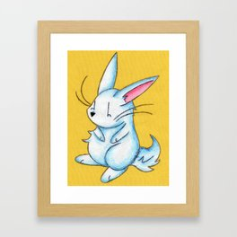 Pudgy Bunny Framed Art Print