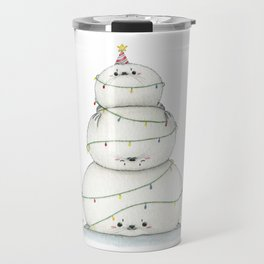 A very sealy Christmas tree Travel Mug
