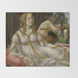 "Sandro Botticelli ""Venus and Mars"" Venus Throw Blanket"