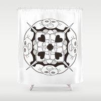 gizmo Shower Curtains featuring Gizmo Mandala by Podridisima
