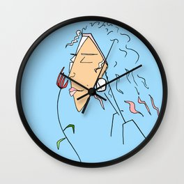 Stop and Smell the Roses Wall Clock