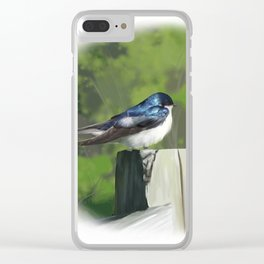Tree Swallow Clear iPhone Case