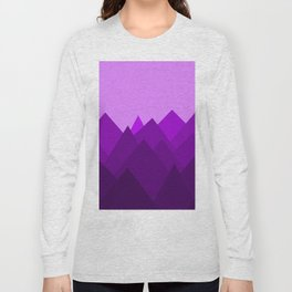 Abstract Purple Alien Landscape Long Sleeve T-shirt