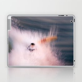 Surfer wipes out while surfing Laptop & iPad Skin