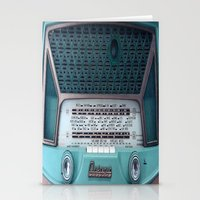 radio Stationery Cards featuring VINTAGE RADIO by 2sweet4words Designs