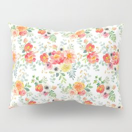 Watercolor bouquets with pink flowers Pillow Sham