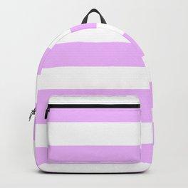 Electric lavender - solid color - white stripes pattern Backpack