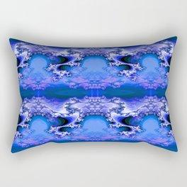 Here be Dragons (blue) Rectangular Pillow