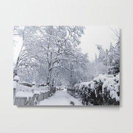 Winter Alleyway Metal Print