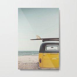 Surfing van Metal Print