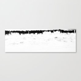 Cows in the Snow Canvas Print