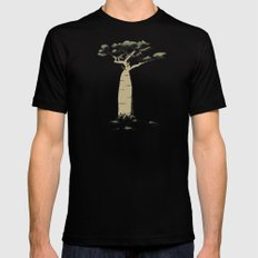 Baobab Tree Black MEDIUM Mens Fitted Tee