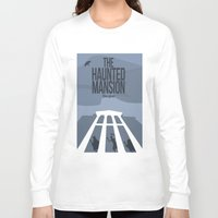 haunted mansion Long Sleeve T-shirts featuring The Dark Rides: The Haunted Mansion #1 by The Disneyland Minimalist