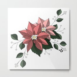 Nochebuena Rosa Metal Print