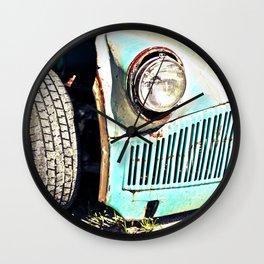 Old rusty bucket - edit Wall Clock
