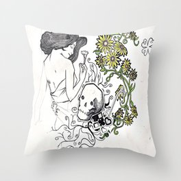 Flowers Figure Throw Pillow