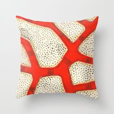 red coral Throw Pillow