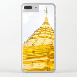 Golden Stupa Clear iPhone Case