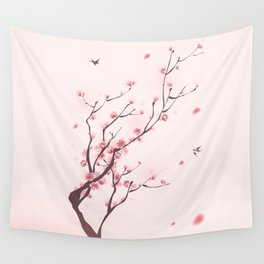 Oriental cherry blossom in spring 003 Wall Tapestry