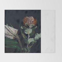 Banksia Flowers Throw Blanket