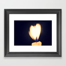 I see love, and it's burning Framed Art Print