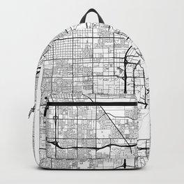 Las Vegas Map White Backpack