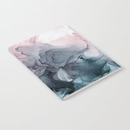 Blush and Paynes Gray Flowing Abstract Reflect Notebook