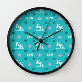 Karla Kush Pattern Wall Clock