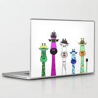 giraffes Laptop & iPad Skins featuring Giraffes by jozi.art
