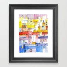 O Town Framed Art Print