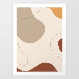 Threads of destiny - Modern abstract art Art Print
