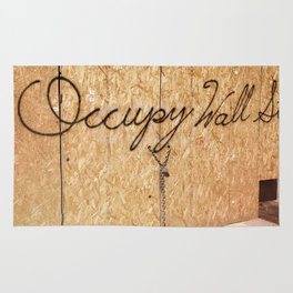 Occupy Wall Street on Storefront Photo Rug