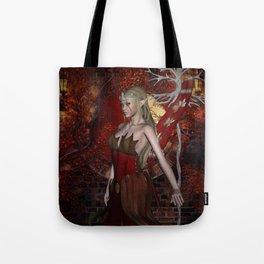 Beautiful fairy  in the night Tote Bag