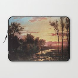 Un tramonto dopo la pioggia: A sunset after rain 1864 Laptop Sleeve