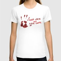 gore T-shirts featuring Love Gore by Victor Rodriguez