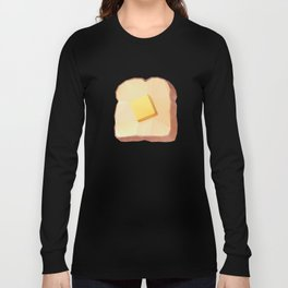 Toast with Butter polygon art Long Sleeve T-shirt